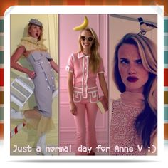 The gorgeous #AnneV loves to post fun modelling pictures on her Twitter. When she posted these I just had to make a collage!