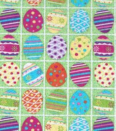 Holiday Inspirations Fabric Eggs In Squares