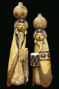 *Gourd Art by Mark and Karen Klay Hand Painted Gourds, Decorative Gourds, Native American Dolls, Southwestern Art, Paperclay, Gourd Art, Native Art, Ancient Art, Indian Art