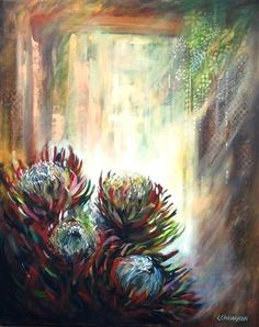 Proteas Protea Art, South African Artists, Oil Painting Abstract, Succulents, Drawings, Floral, Inspiration, Tutorials, Inspire