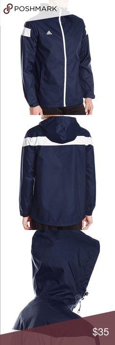 Adidas men's climaproof full zip jacket Brand new adidas men's climaproof full zip jacket (navy color)   Size XL  100% brand new w/ tags still on Adidas Jackets & Coats Windbreakers