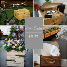 5 DIY Wine Crate Uses - great way to recycle wine crates