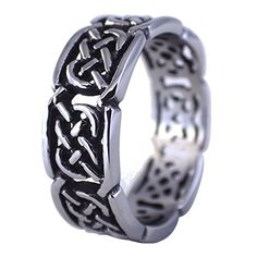 Rose Ring Womens Stainless Steel Flower Band Size 6-10 Fantasy Forge Jewelry