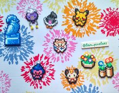 """120 Likes, 3 Comments - Giuls (@lain_pixelart) on Instagram: """"Pokedolls everywhere pt 2 Next time I will start with the first composition #pixel #pixelart…"""""""