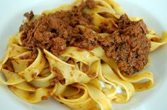 Sugo di Cinghiale (wild boar sauce on papardelle)... Shut the front door! A Tuscan must.