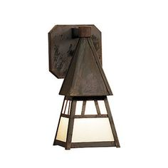 """Arroyo Craftsman Dartmouth 1-Light Outdoor Wall Lantern Size: 16.75"""" H x 7.5"""" W, Finish: Antique Copper, Shade Type: Frosted"""