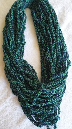 Infinity Scarf Chain Crocheted Multicolor by softtotouch on Etsy, $19.00