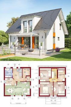 Exklusives Fertighaus mit Satteldach - Haus Celebration 134 V3 Bien Zenker - Moderner Einfamilienhaus Grundriss offene Küche mit Wohn- und Essbereich - HausbauDirekt.de