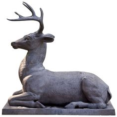 Garden Statue of a Stag | From a unique collection of antique and modern statues at http://www.1stdibs.com/furniture/building-garden/statues/