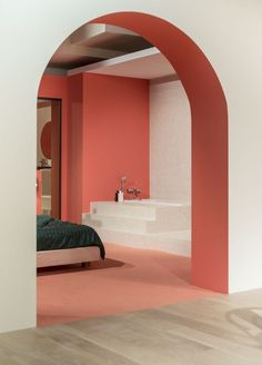Pool is a Paris-based creative studio which takes design beyond furniture, encompassing graphics, artistic direction, and interior architecture. Interior Architecture, Interior And Exterior, Colour Architecture, Colour Blocking Interior, Interior Design Programs, Live Coral, Scandinavian Interior Design, Contemporary Interior, Shop Interiors