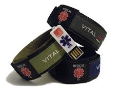 Medical ID wristbands Sports ID bands Velcro web band, allowing for total adjustabiliy strong and tough to cope with the rigours of adventure sports and the demands of bikers from MEkey ICE In Case Of Emergency, Horse Riding, Joggers, Biker, Toms, Forget, Pouch, Usb, Medical