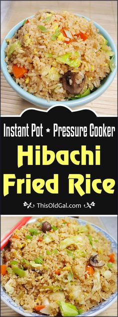 This Instant Pot Pressure Cooker Fried Rice recipe is as close to traditional Fried Rice, as you can get without using a Wok or Hot Cast Iron. via (easy vegetarian meals fried rice) Power Cooker Recipes, Pressure Cooking Recipes, Pressure Cooker Recipes Vegetarian, Rice Cooker Recipes, Fried Rice Recipe Rice Cooker, Fried Rice Recipes, Hibachi Fried Rice, Crock Pot Recipes, Crock Pot Rice