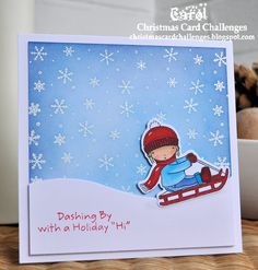 Inky Fingers: MFT Pure Innocence Christmas card