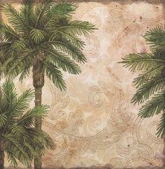 Travel Palms - 12x12 Scrapbooking Paper