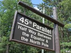 Gaylord, Michigan - Rustic 45th Parallel Marker
