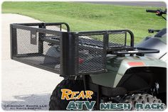 ATV Rear Mesh Rack from Discount Ramps increases cargo space by almost 5 cubic feet. Drop-down design is perfect for maintenance equipment, hunting and fishing gear, coolers and more.