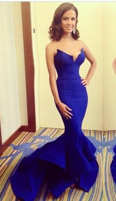 Formal Electric Blue Dress jaglady