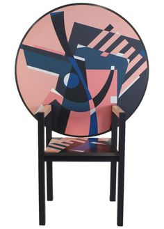 Alessandro Mendini Limited Zabro Chair Table for Zanotta, Italy,...