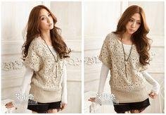 Free Crochet Sweater Patterns   Free shipping Lady Crocheted sweater / Pullover /knitwear - Pattern ...