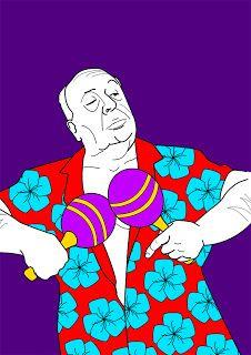 Alfred Hitchcok hawaiano by Enrique Diego (Perruncho Studio)