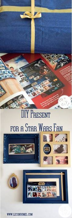 DIY Star Wars Memorabilia Frames using Collectible Royal Mail Stamps with Step by Step Instructions - the perfect gift for Star Wars fans and collectors (sp)