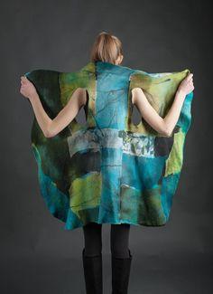 Barcelona Vest by Eva Camacho-Sanchez. Silk & wool - felted.