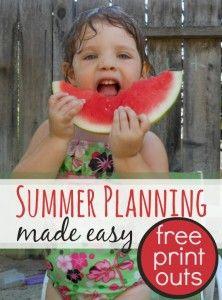Summer schedule for kids & parents (plus summer goal sheets) FUN!