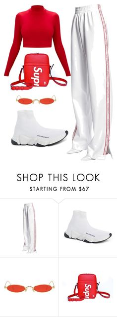 """#19"" by jade-bbaluch ❤ liked on Polyvore featuring MISBHV, Balenciaga, Gentle Monster and Louis Vuitton"