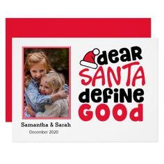Add Your Photo Funny Santa Define Good Card - Xmascards ChristmasEve Christmas Eve Christmas merry xmas family holy kids gifts holidays Santa cards