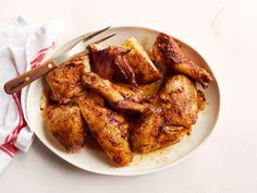 Beer-Brined Beer-Can Chicken Recipe : Food Network Kitchen : Food Network - FoodNetwork.com