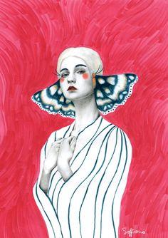 Butterfly girls on Behance