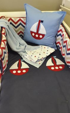 If you're wanting something unique for your Nautical Nursery, this theme combining Red, Blue with a touch of Tan is the perfect theme for any little boy! Our Baby, Baby Boy, Sailor Theme, Nursing Chair, Nautical Nursery, Nursery Furniture, Bedding Collections, Little Boys, Grey And White