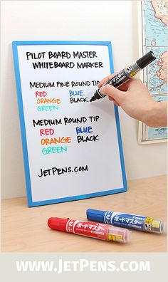 Pilot Board Master Whiteboard Markers are refillable with cartridges, making them an eco-friendly alternative to disposable markers.