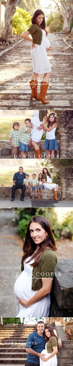 Cute outfit and family maternity shoot