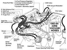 95 4Runner Vacuum Diagram for power stering pump | power steering air lines