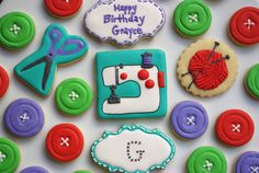 Sewing Party cookies by iBakery