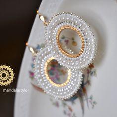 Amber & Gold Crystal Earrings, Raw Geode Stud and Gold Fill Earrings, Vanilla White Studs, Light Crystal Earrings, Full Moon Earrings - Fine Jewelry Ideas Wedding seed beads hoop earrings Prom Earrings, Gold Hoop Earrings, Bead Earrings, Crystal Earrings, Crystal Jewelry, Bridal Jewelry, Diy Jewelry, Beaded Jewelry, Handmade Jewelry