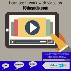 I can see it work with video on 10dayads.com #VideoAds #VideoMarketing