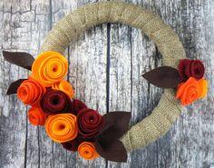 Corona di autunno, sentivo la ghirlanda di fiori, ghirlanda di foglia, autunno, inverno ghirlanda 12 pollici