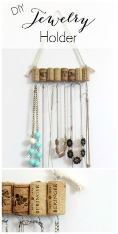 DIY Necklace Holder for the minimalist Necklace organization