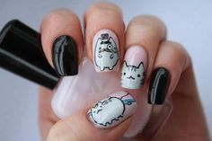 Like this pusheen nails! <3