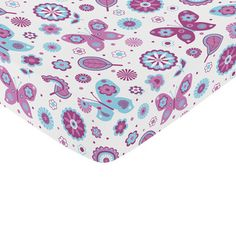 @Overstock - Sweet Jojo Designs Spring Garden Bedding Butterfly Print Fitted Crib Sheet - Sweet Jojo Designs coordinating purple, turquoise and white butterfly crib sheet matches exclusively with the Sweet Jojo Designs Crib Bedding Sets. High quality and easy machine washing will make this crib sheet a must have for your room.  http://www.overstock.com/Baby/Sweet-Jojo-Designs-Spring-Garden-Bedding-Butterfly-Print-Fitted-Crib-Sheet/8604574/product.html?CID=214117 $19.99