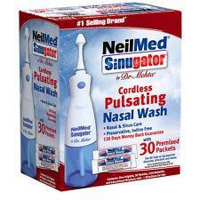 NeilMed SinuGator Inalámbrico Nasal Lavado Irrigador 30 Paquetes Sinus Alergia