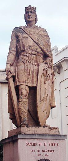 Sancho VII el Fuerte de #Navarra. Estatua en su honor en Tudela.