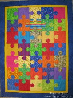 I love puzzles and this would be cool to quilt