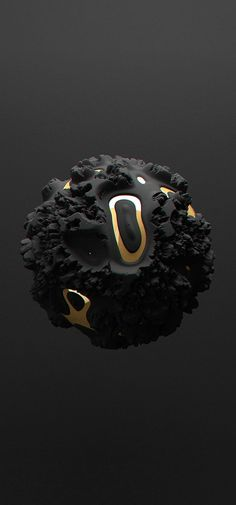 Black   黒   Kuro   Nero   Noir   Preto   Ebony   Sable   Onyx   Charcoal   Obsidian   Jet   Raven   Color   Texture   Pattern   All black but gold on Behance