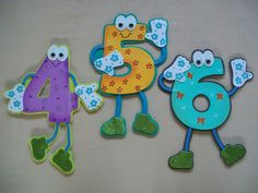 Numeros fomi Art For Kids, Crafts For Kids, Class Decoration, Telugu, Teaching Resources, Alphabet, Clip Art, Classroom, Letters