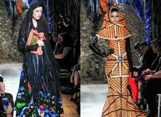 Romanian-based French designer Philippe Guilet has created a collection inspired by Romania's ancient peasant traditions and modern urban jungle. Romanian Women, Peasant Blouse, Style Fashion, Fashion Design, Fashion Images, Blouse Styles, Jean Paul Gaultier, Karl Lagerfeld, Couture Fashion