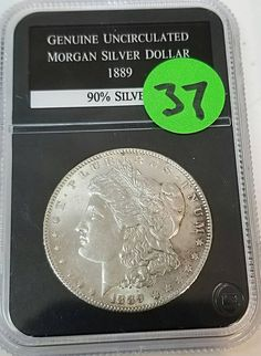 Check out this item in my Etsy shop https://www.etsy.com/listing/565442143/1889-morgan-silver-dollar-cased
