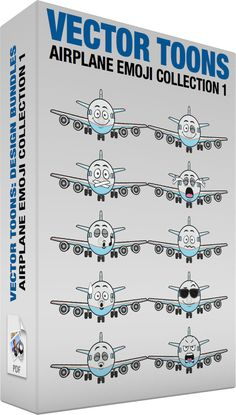 Airplane Emoji Collection 1 #10piece #aeroplane #aircarrier #airbus #aircraft #aircraftengine #airplane #Boeing #box #bundle #carrier #Collection #engine #enginepropeller #face #horizontalstabilizer #jet #jetengine #jumbojet #landinggear #motor #package #passengerplane #pdf #plane #planeengine #propellers #set #stabilizer #tail #ten #vector #vectors #verticalstabilizer #wheels #vector #clipart #stock